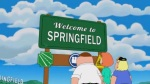 The Simpsons and Family Guy Crossover Springfield Sign