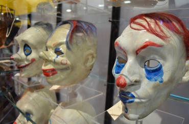 Comic Con 2014 Batman 75th Anniversary Exhibit Joker Goon Masks 3