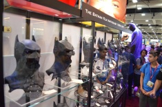 Comic Con 2014 Batman 75th Anniversary Exhibit Masks 2