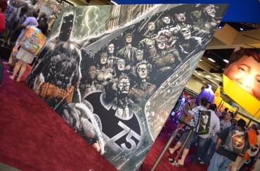 Comic Con 2014 Batman 75th Anniversary Exhibit Mural