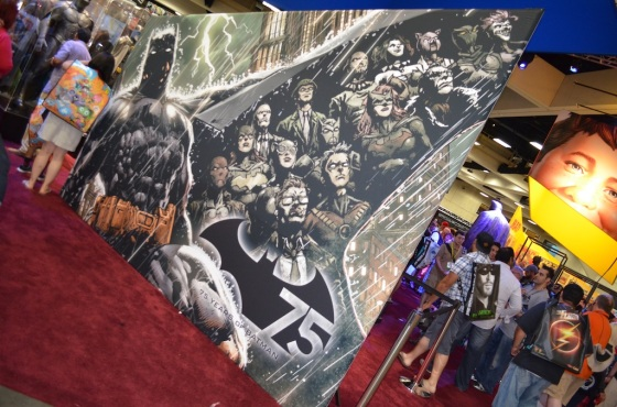 Comic Con 2014 Batman 75th Anniversary Exhibit Mural