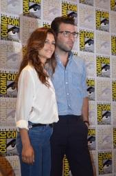 Comic-Con 2014 Hannah Ware and Zachary Quinto