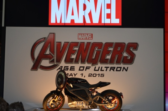 Comic-Con 2014 Marvel Studios Booth Captain America Motorcycle