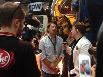 Comic-Con 2014 Misha Collins Marvel Booth