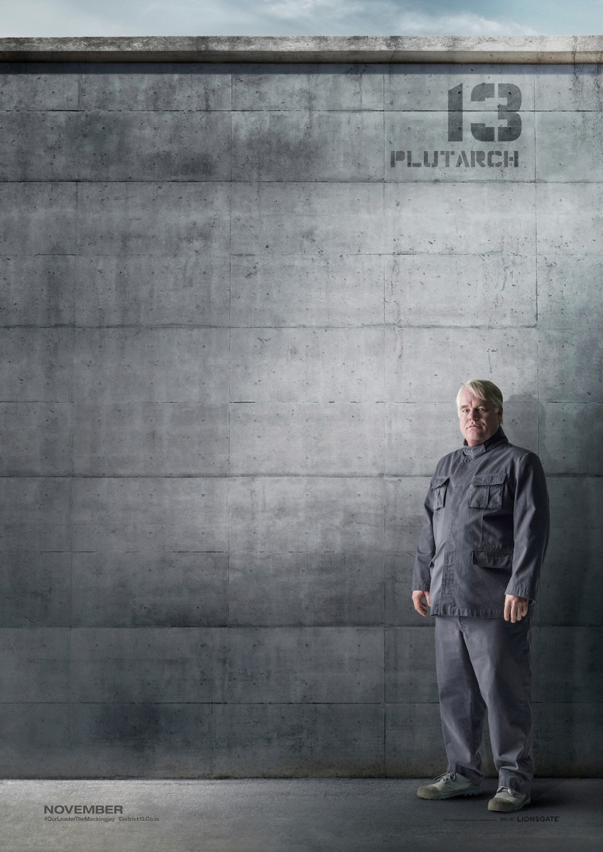 The Hunger Games Mockingjay Part 1 District 13 Poster Plutarch Heavensbee