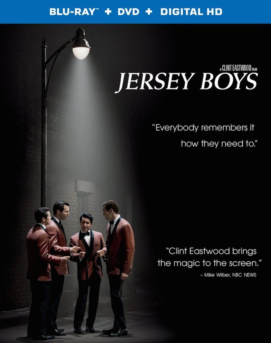 Jersey Boys 2014 Movie Blu-Ray Box Cover Art