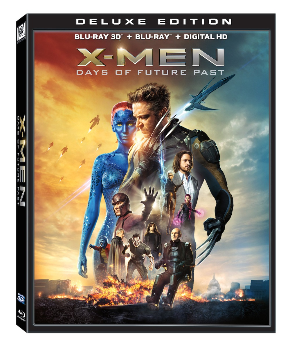 X-Men Days of Future Past Deluxe Edition Blu-Ray Box Cover Art