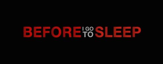 Before I Go to Sleep Title Movie Logo