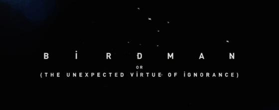 Birdman 2014 Movie Title Logo