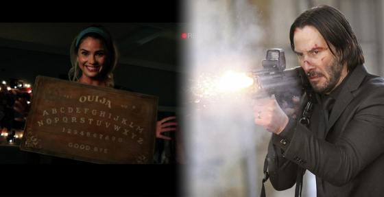 Box Office Battlefield Ouija vs. John Wick
