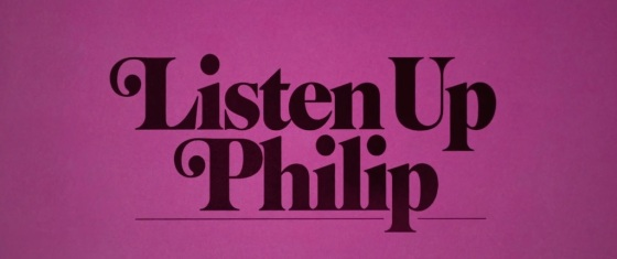 Listen Up Philip Movie Title Logo