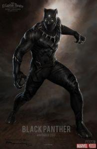 Marvel Black Panther Movie Suit Concept Art