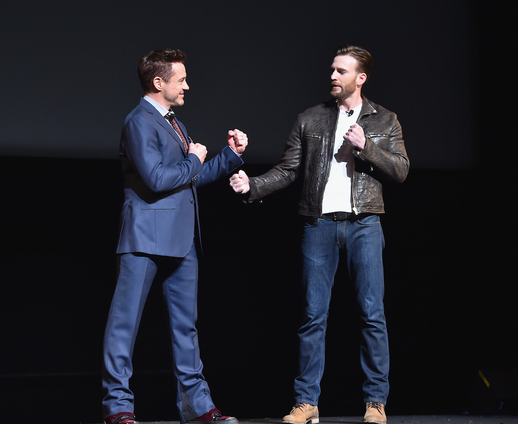 Marvel Studios Event Robert Downey Jr and Chris Evans