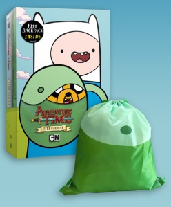 Adventure Time Finn the Human Backpack and DVD Box ArtAdventure Time Finn the Human Backpack and DVD Box Art