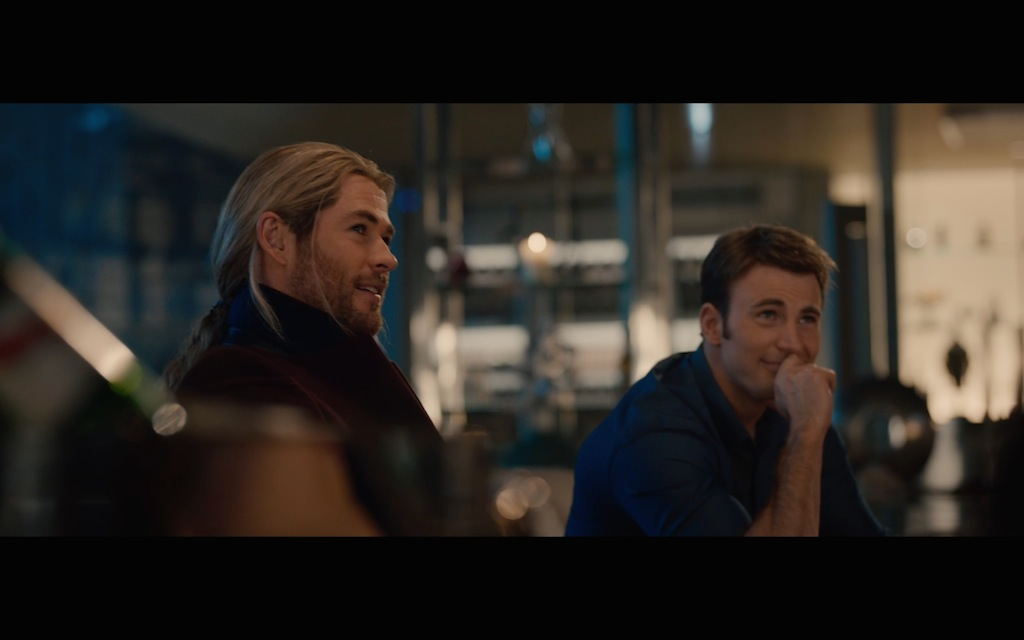 Avengers Age of Ultron Screenshot Chris Evans and Chris Hemsworth