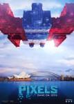 Space Invaders Pixels Movie Poster