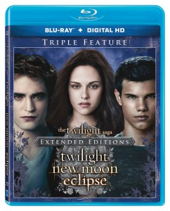 The Twilight Saga Extended Editions Triple Feature Blu-ray Cover Art