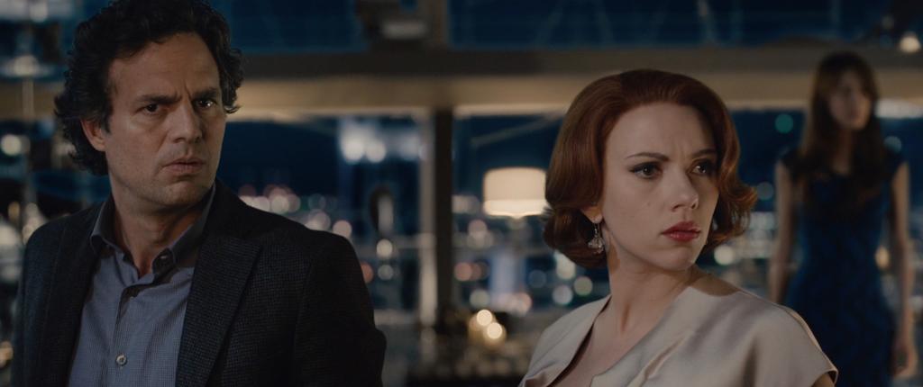 Avengers Age of Ultron Movie Screenshot Mark Ruffalo and Scarlett Johansson