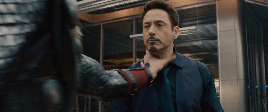 Avengers Age of Ultron Movie Screenshot Robert Downey Jr Tony Stark Choked