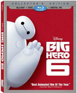 Big Hero 6 Disney Movie Blu-Ray Box Cover Art