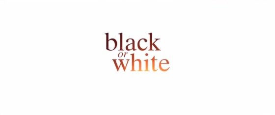Black or White Title Movie Logo