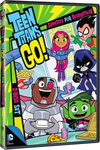 Teen Titans Go DVD Box Cover Art