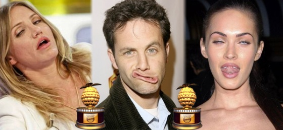 2015 Razzie Awards Kirk Cameron, Megan Fox, and Cameron Diaz
