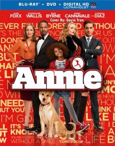 Annie 2015 Remake Movie Blu-Ray Cover Art