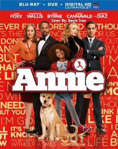 Annie 2015 Remake Movie Blu-Ray Cover Art