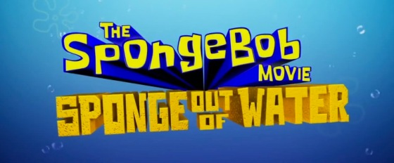 The SpongeBob Movie Sponge Out of Water Title Movie Logo