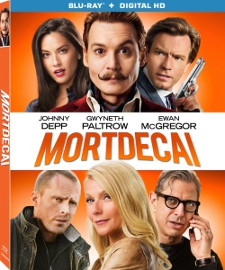 Mortdecai Movie Blu-Ray Box Cover Art