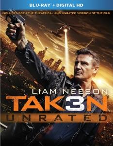 Taken 3 Blu-ray Box Cover Art