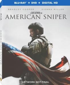 American Sniper Blu-ray Box Cover Art