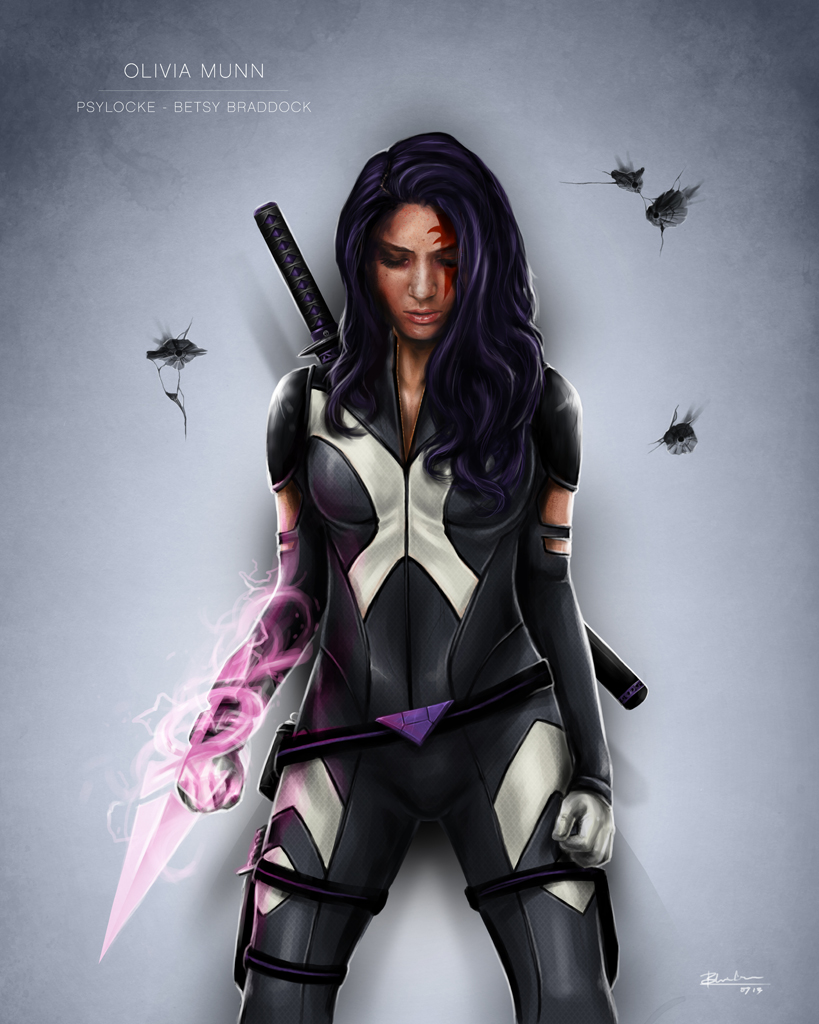 Olivia Munn Psylocke Concept Art DeviantArt Ben-Wilsonham