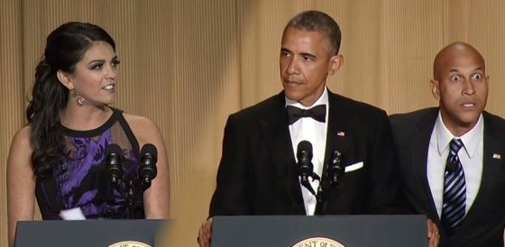 President Obama and SNL's Cecily Strong  White House Correspondents' Dinner