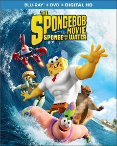 The Spongebobg Movie Sponge Out of Water Blu-ray Box Cover Art