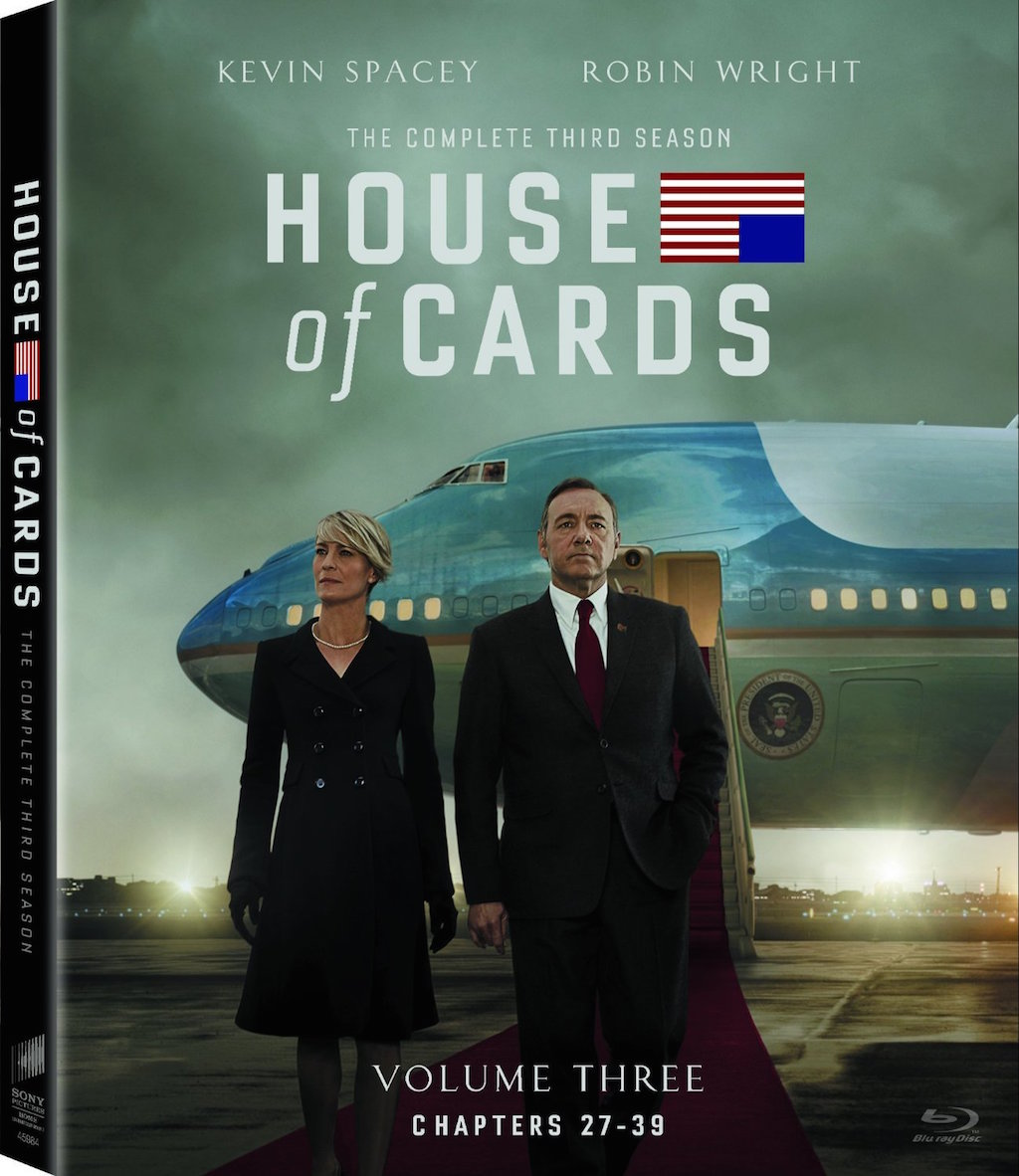 House of Cards Season 3 Blu-ray Box Cover Art