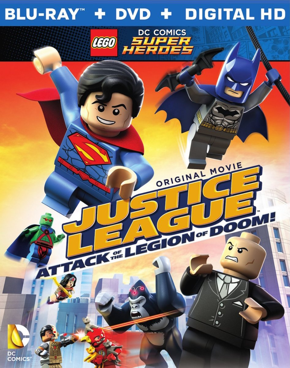 LEGO Justice League Legion of Doom Blu-ray Box Cover Art