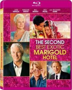 The Second Best Exotic Marigold Hotel Blu-Ray Box Cover Art