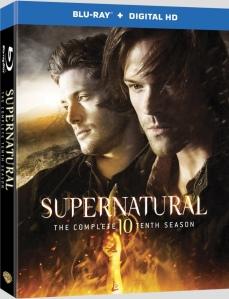 Supernatural Season 10 Blu-ray Box Cover Art
