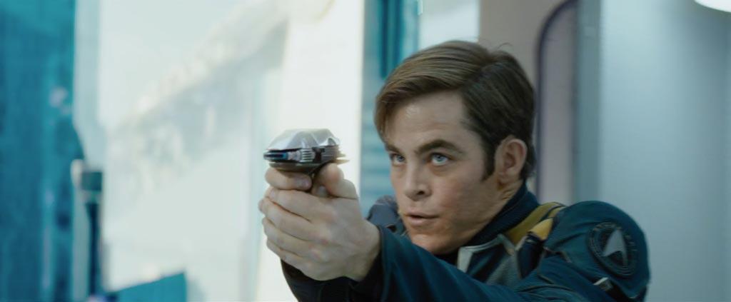 Star Trek Beyond Teaser Screenshot Chris Pine Captain Kirk Phaser