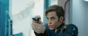 Star Trek Beyond Teaser Screenshot Chris Pine Captain Kirk Phaser