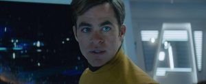 Star Trek Beyond Teaser Screenshot Chris Pine Captain Kirk Yellow Suit