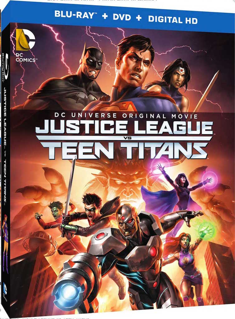 Justice League vs Teen tITANS Blu-ray Box Cover Art
