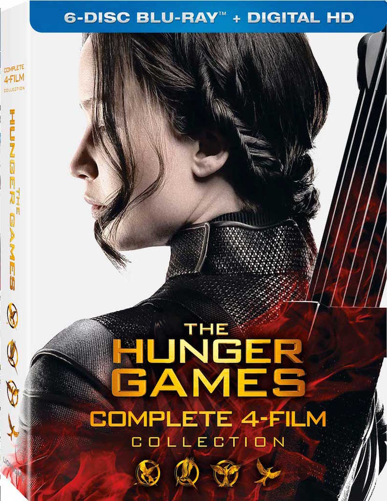The Hunger Games Complete 4-Film Collection Blu-ray Box Cover Art