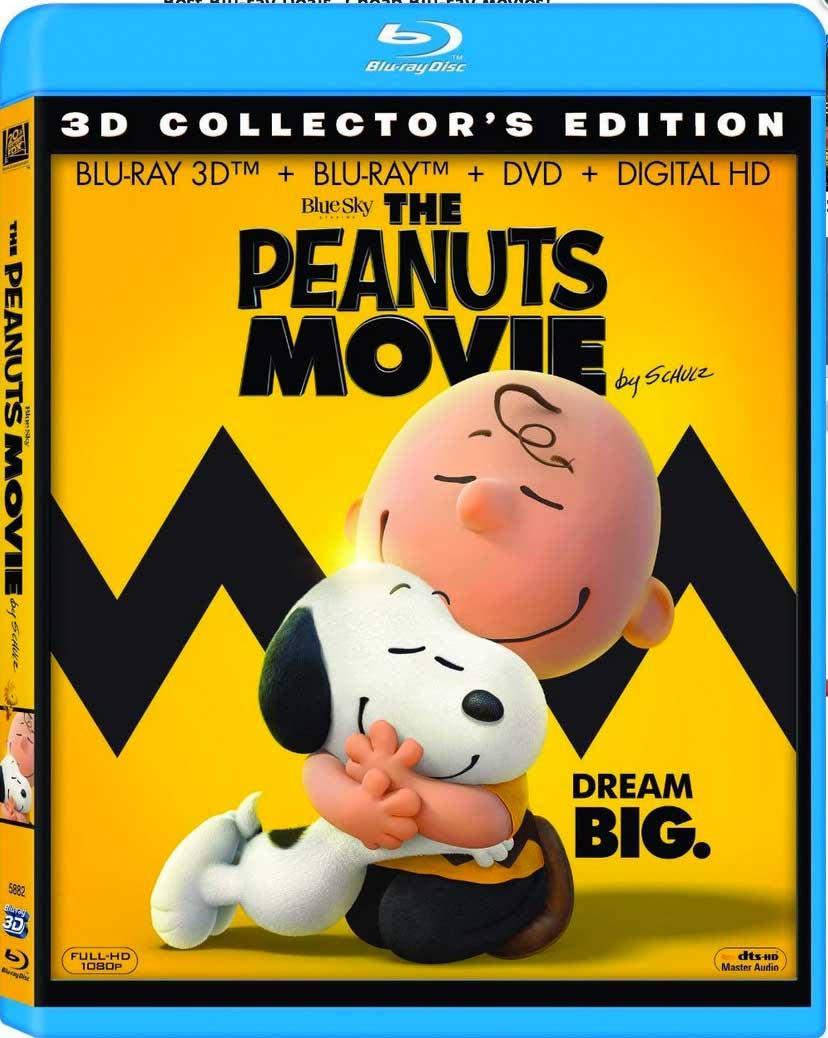 The Peanuts Movie Blu-Ray Box Cover Art