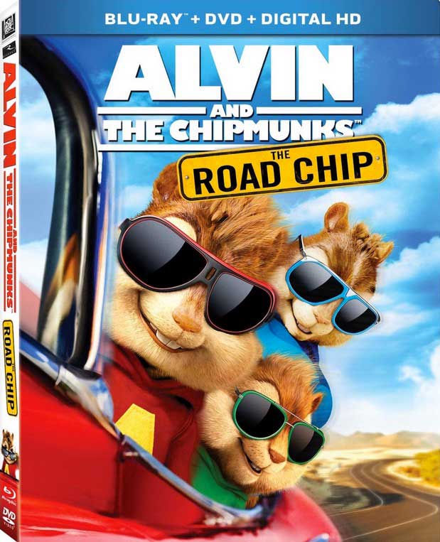 Alvin and the Chipmunks The Road Chip Blu-ray Box Cover Art