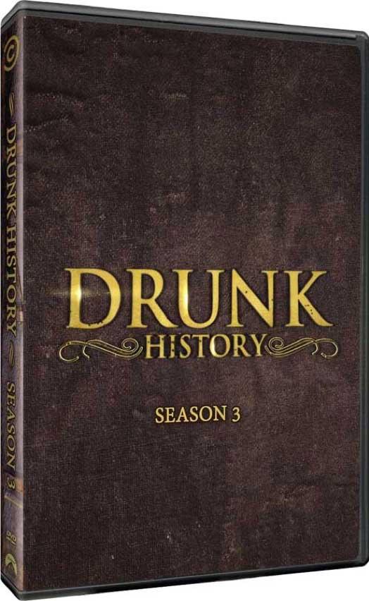 Drunk History Season 3 DVD Box Cover Art