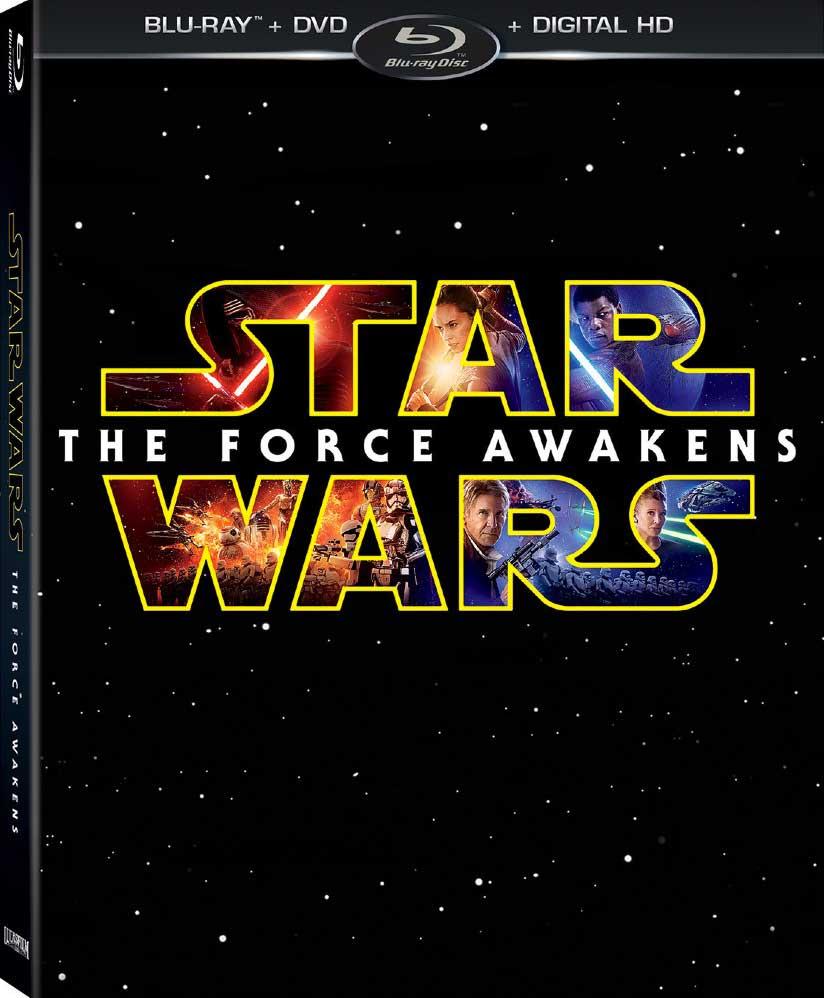 Star Wars The Force Awakens Blu-ray Box Cover Art