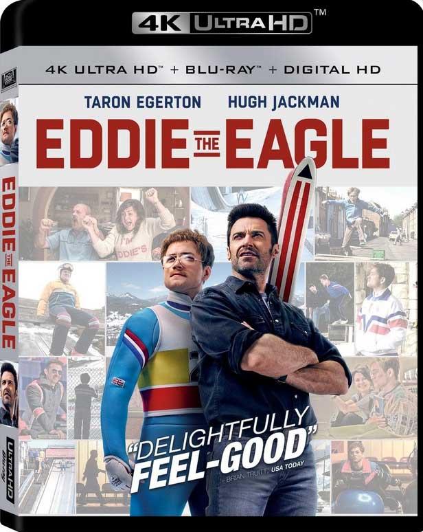Eddie th Eagle 4K Blu-Ray Box Cover Art
